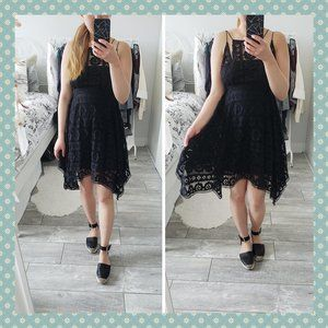 BNWT Free People Black Lace Dress